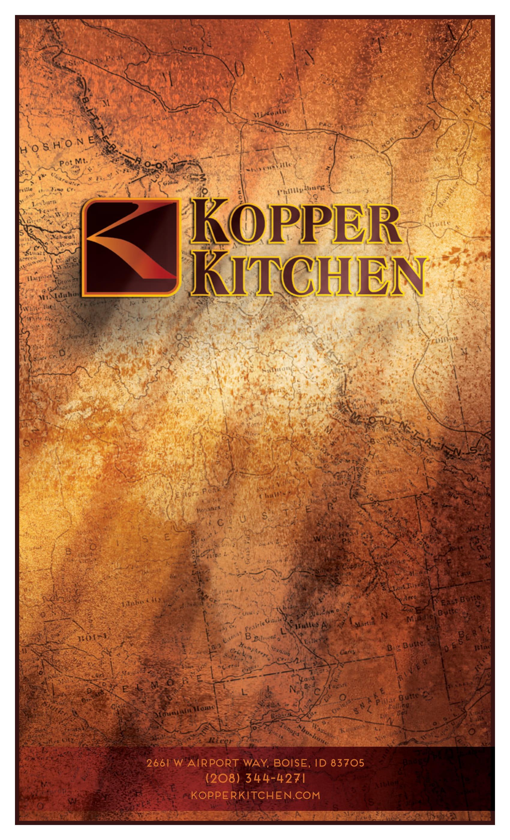 Kopper Kitchen Menu